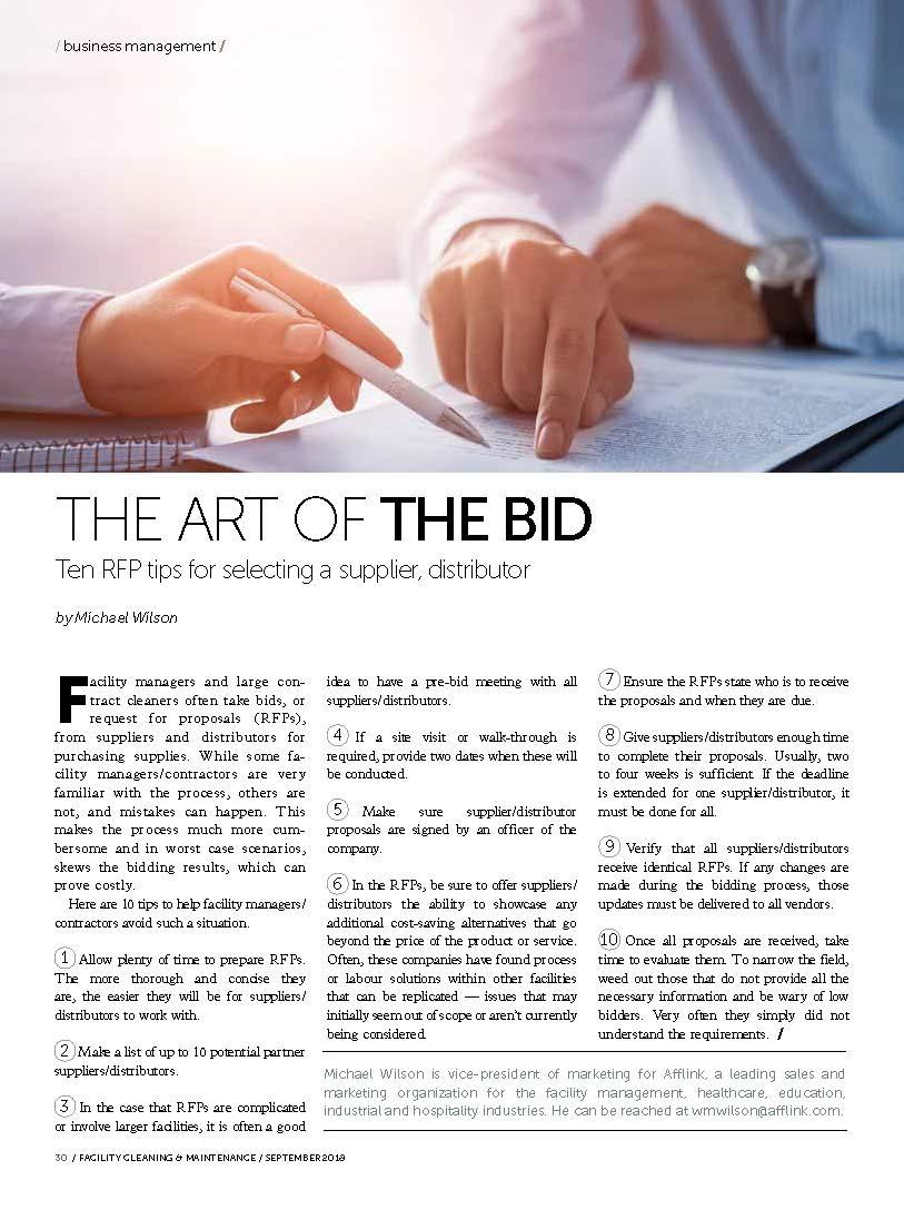The Art of the Bid
